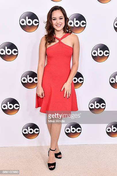 Actress Hayley Orrantia attends the Disney ABC Television Group TCA Summer Press Tour on August 4, 2016 in Beverly Hills, California.
