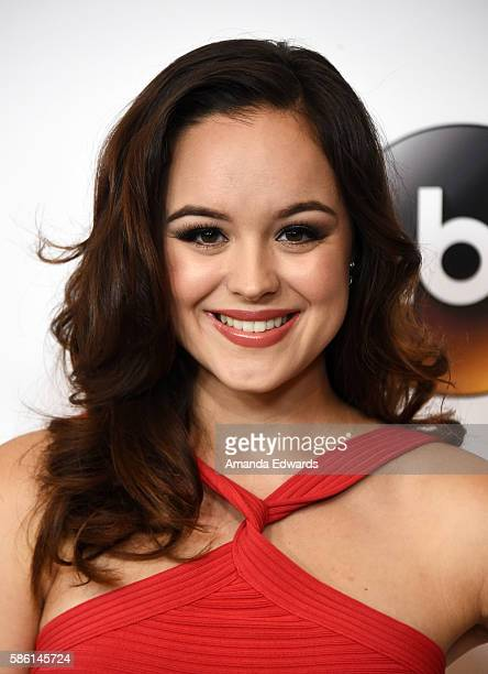 Actress Hayley Orrantia attends the Disney ABC Television Group TCA Summer Press Tour on August 4 2016 in Beverly Hills California