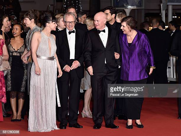 Actress Hayley Squire Director Ken Loach Actor Dave Johns and actress Rebecca O'Brien attend the 'I Daniel Blake' premiere during the 69th annual...