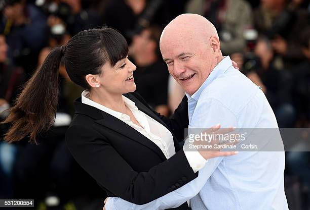 Actress Hayley Squires and actor Dave Johns attend the 'I Daniel Black ' photocall during the 69th annual Cannes Film Festival at the Palais des...
