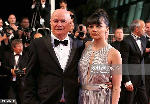 Actress Hayley Squires and actor Dave Johns attend the 'I Daniel Blake ' premiere during the 69th annual Cannes Film Festival at the Palais des...