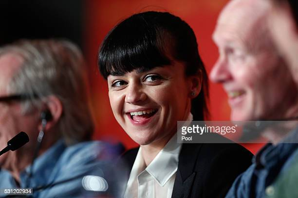 """Actress Hayley Squires attends the """"I, Daniel Blake"""" press conference during the 69th annual Cannes Film Festival at the Palais des Festivals on May..."""