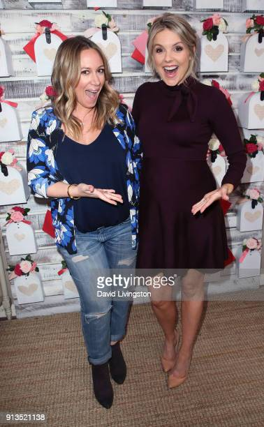 Actress Haylie Duff and TV personality Ali Fedotowsky pose at Hallmark's Home Family at Universal Studios Hollywood on February 2 2018 in Universal...