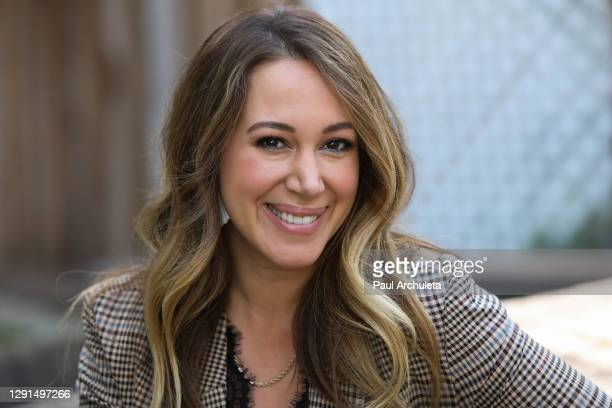 "Actress Haylie Duff visits Hallmark Channel's ""Home & Family"" at Universal Studios Hollywood on December 15, 2020 in Universal City, California."