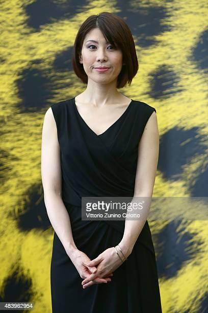Actress Hazuki Kikuchi attends Happy Hour photocall on August 14 2015 in Locarno Switzerland