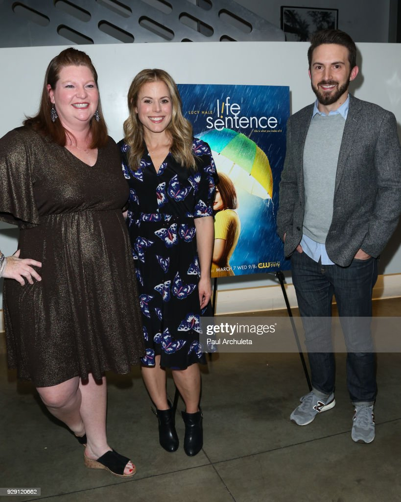 Actress Heather Brooker, Producer Erin Cardillo and Producer Richard Keith attend the screening for the CW's 'Life Sentence' at The Downtown Independent on March 7, 2018 in Los Angeles, California.