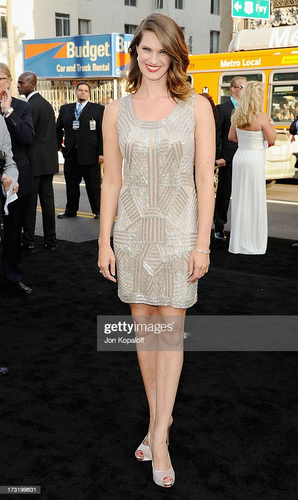 Actress Heather Doerksen arrives at the Los Angeles Premiere 'Pacific Rim' at Dolby Theatre on July 9, 2013 in Hollywood, California.
