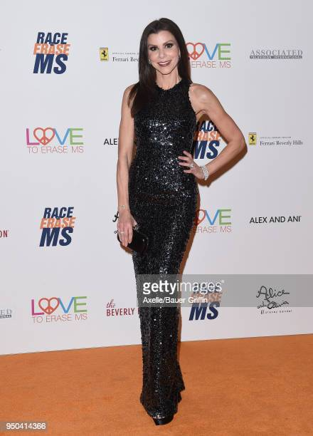 Actress Heather Dubrow arrives at the 25th Annual Race to Erase MS Gala at The Beverly Hilton Hotel on April 20 2018 in Beverly Hills California