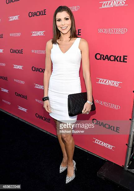 Actress Heather Dubrow attends Crackle Presents Summer Premieres Event for originals Sequestered and Cleaners at 1 OAK on August 14 2014 in West...