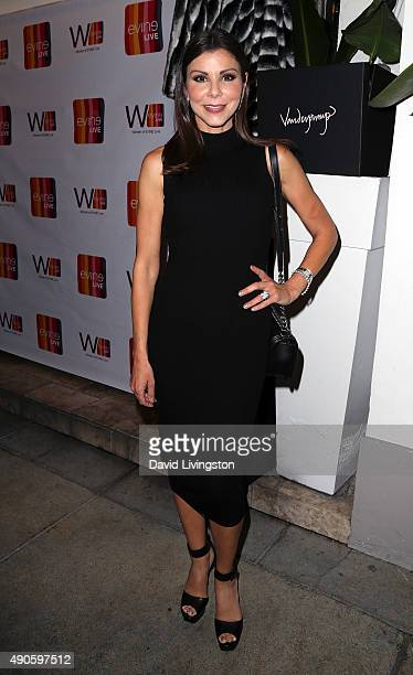 Actress Heather Dubrow attends the EVINE Live Celebration at Villa Blanca on September 29 2015 in Beverly Hills California