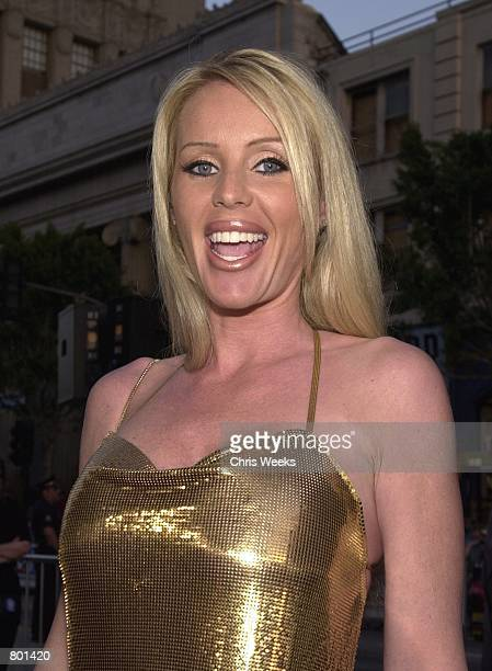 Actress Heather Elizabeth Parkhurst arrives at the premiere of the Warner Bros film Driven April 16 2001 at Mann's Chinese Theatre in Hollywood CA...
