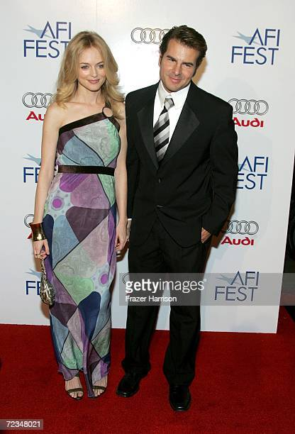 Actress Heather Graham and actor Vincent De Paul arrive at the AFI FEST presented by Audi opening night gala of Bobby at the Grauman's Chinese...