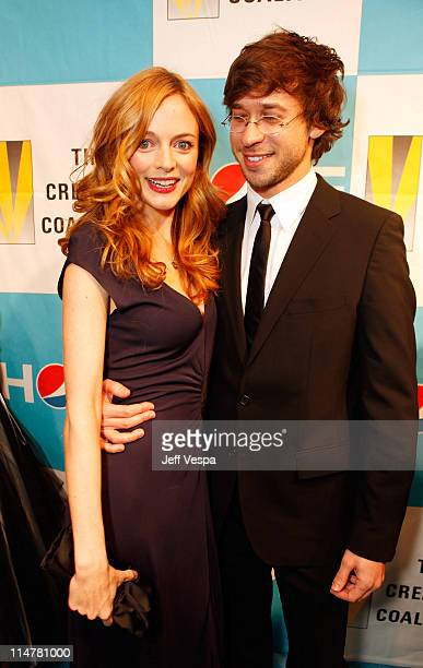 Actress Heather Graham and Yaniv Raz attend The Creative Coalition's Inaugural Ball at the Harmon Center for the Arts on January 20 2009 in...