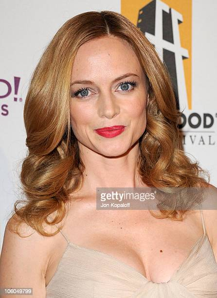 Actress Heather Graham arrives at the 14th Annual Hollywood Awards Gala held at The Beverly Hilton hotel on October 25 2010 in Beverly Hills...