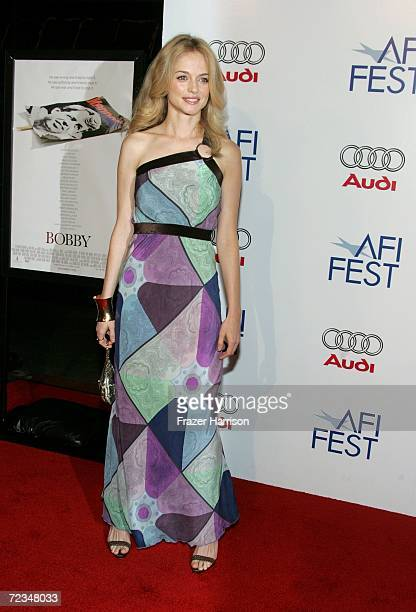 Actress Heather Graham arrives at the AFI FEST presented by Audi opening night gala of Bobby at the Grauman's Chinese Theatre on November 1 2006 in...