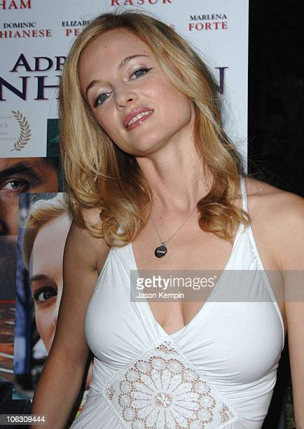 Actress Heather Graham arrives at the premiere of Adrift In Manhattan at Chelsea West Cinemas on September 17 2007 in New York City