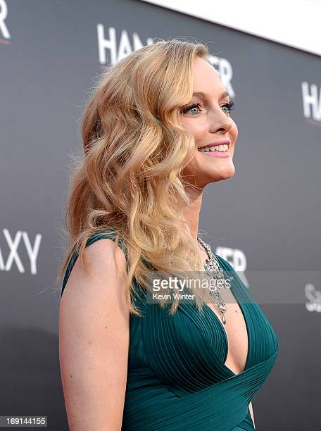 Actress Heather Graham arrives at the premiere of Warner Bros Pictures' Hangover Part 3 on May 20 2013 in Westwood California