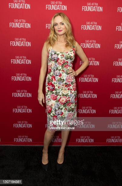 Actress Heather Graham attends SAGAFTRA Foundation Conversations presents The Rest Of Us at SAGAFTRA Foundation Screening Room on February 18 2020 in...