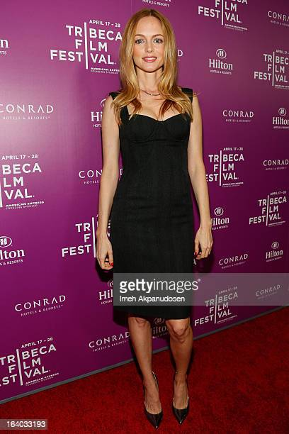 Actress Heather Graham attends the 2013 Tribeca Film Festival LA Reception at The Beverly Hilton Hotel on March 18 2013 in Beverly Hills California