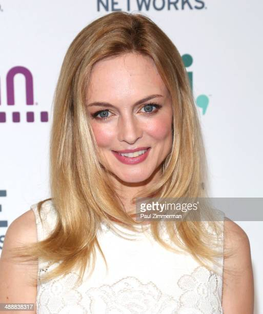 Actress Heather Graham attends the 2014 AE Networks Upfront at Park Avenue Armory on May 8 2014 in New York City