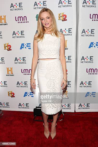 Actress Heather Graham attends the 2014 A+E Networks Upfronts at Park Avenue Armory on May 8, 2014 in New York City.
