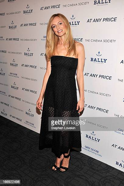 Actress Heather Graham attends the Cinema Society Bally screening of Sony Pictures Classics' At Any Price at Landmark Sunshine Cinema on April 18...