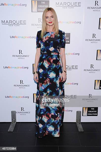 Actress Heather Graham attends the Creative Coalition's spotlight awards dinner gala at Marquee on October 14 2014 in New York City