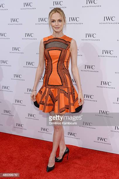 Actress Heather Graham attends the For the Love of Cinema dinner hosted by IWC Schaffhausen and Tribeca Film Festival at Urban Zen on April 17 2014...