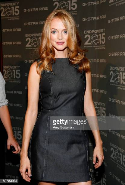 Actress Heather Graham attends the G Star Spring 2009 fashion show during MercedesBenz Fashion Week at the Park Avenue Armory on September 11 2008 in...