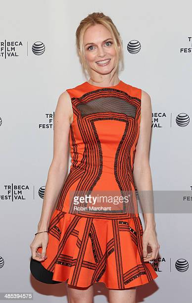 Actress Heather Graham attends the Goodbye To All That Premiere during the 2014 Tribeca Film Festival at the SVA Theater on April 17 2014 in New York...