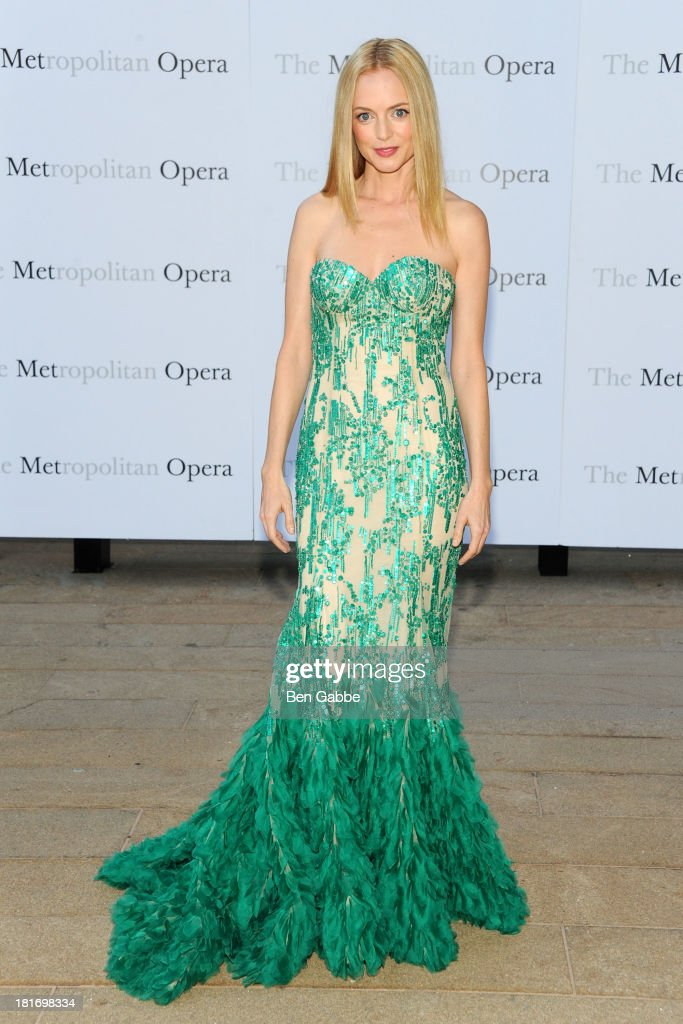 Actress Heather Graham attends the Metropolitan Opera season opening production of 'Eugene Onegin' at The Metropolitan Opera House on September 23, 2013 in New York City.
