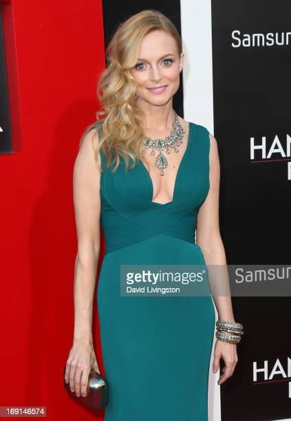 Actress Heather Graham attends the premiere of Warner Bros Pictures' 'Hangover Part III' at the Westwood Village Theater on May 20 2013 in Westwood...
