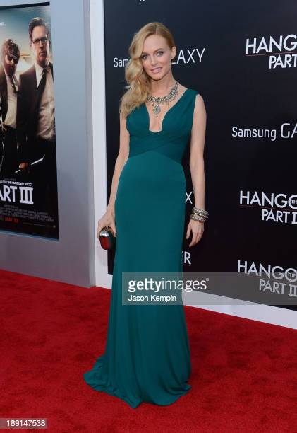 Actress Heather Graham attends the premiere of Warner Bros Pictures' Hangover Part 3 on May 20 2013 in Westwood California