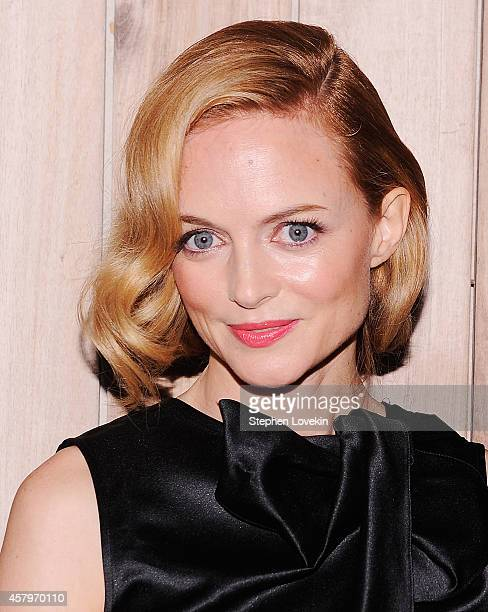 Actress Heather Graham attends the RADiUS TWC and The Cinema Society New York Premiere of Horns after party at Jimmy At The James Hotel on October 27...