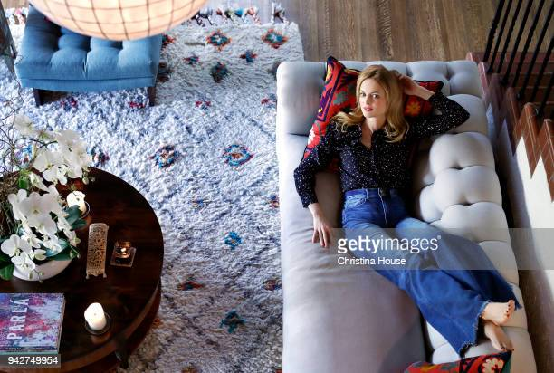 Actress Heather Graham is photographed for Los Angeles Times on February 12 2018 at home in Los Angeles California PUBLISHED IMAGE CREDIT MUST READ...