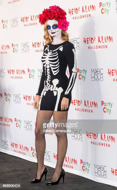 Actress Heather Graham is seen during Heidi Klum's 18th Annual Halloween Party at Magic Hour Rooftop Bar Lounge on October 31 2017 in New York City