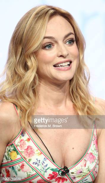 Actress Heather Graham of the television show Bliss speaks during the BritBox segment of the Summer 2018 Television Critics Association Press Tour at...