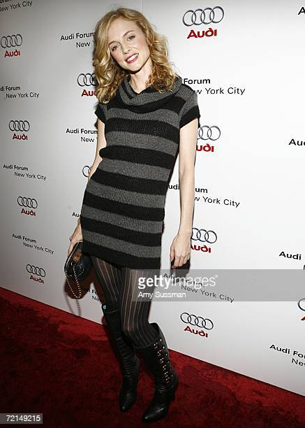 Actress Heather Graham poses on the red carpet for the debut celebration for Audi's Sports Car the R8 held at the opening of the first United...