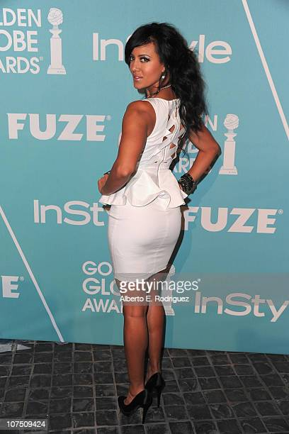 Actress Heather Hemmens arrives at The Hollywood Foreign Press Associationand InStyle's Miss Golden Globe 2011 introduction on December 9 2010 in...