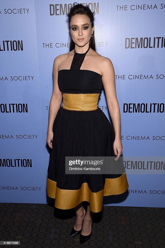 Actress Heather Lind attends a screening of 'Demolition' hosted by Fox Searchlight Pictures with the Cinema Society at the SVA Theater on March 21, 2016 in New York City.