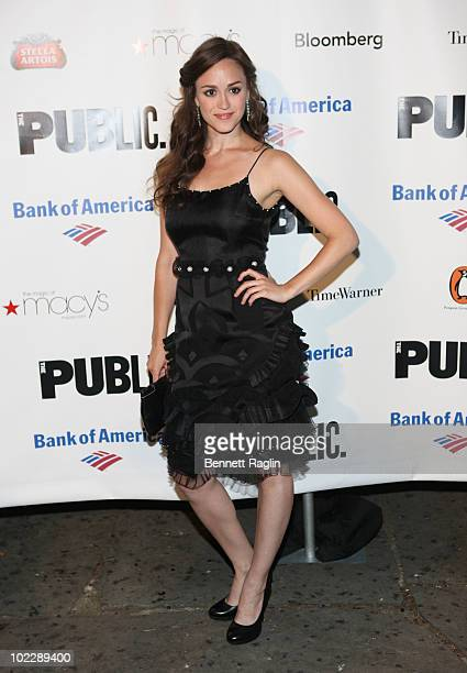 Actress Heather Lind attends the 2010 Public Theater Gala at the Delacorte Theater on June 21 2010 in New York City