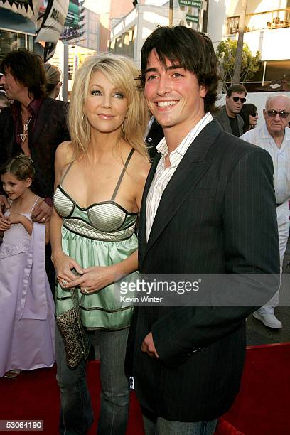 Actress Heather Locklear and actor Ben Feldman arrive at the premiere of The Perfect Man at Universal Studios Cinema on June 13 2005 in Hollywood...