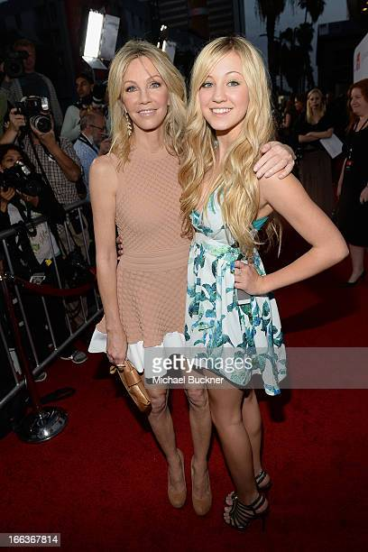 Actress Heather Locklear and daugher Ava Zambora arrive for the premiere of Dimension Films' Scary Movie 5 at ArcLight Cinemas Cinerama Dome on April...