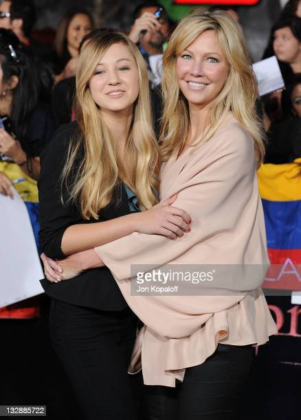 Actress Heather Locklear and daughter Ava Elizabeth Sambora arrive at the Los Angeles Premiere The Twilight Saga Breaking Dawn Part 1 at Nokia...