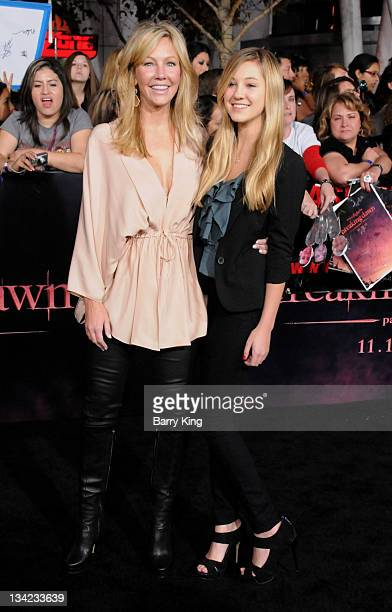 Actress Heather Locklear and daughter Ava Sambora arrive at the Los Angeles Premiere The Twilight Saga Breaking Dawn Part 1 at Nokia Theatre LA Live...
