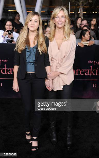 Actress Heather Locklear and daughter Ava Sambora arrive at The Twilight Saga Breaking Dawn Part 1 Los Angeles Premiere at Nokia Theatre LA Live on...