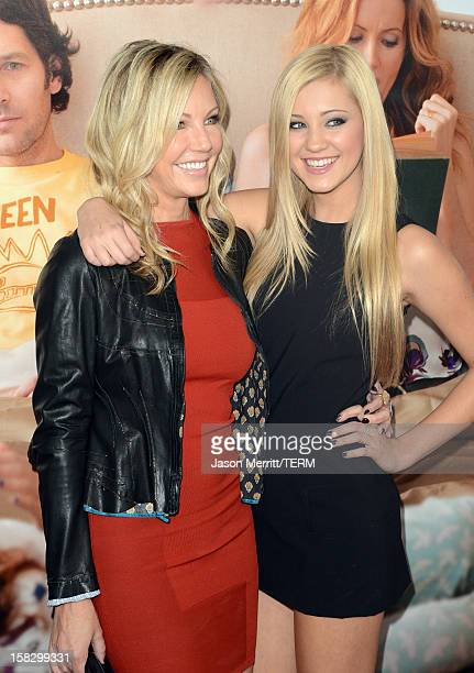 Actress Heather Locklear and daughter Ava Sambora attend the Premiere Of Universal Pictures' This Is 40 at Grauman's Chinese Theatre on December 12...