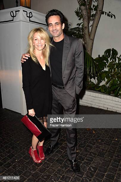 Actress Heather Locklear and Dr Marc Mani attend the W Magazine celebration of the 'Best Performances' Portfolio and The Golden Globes with Cadillac...