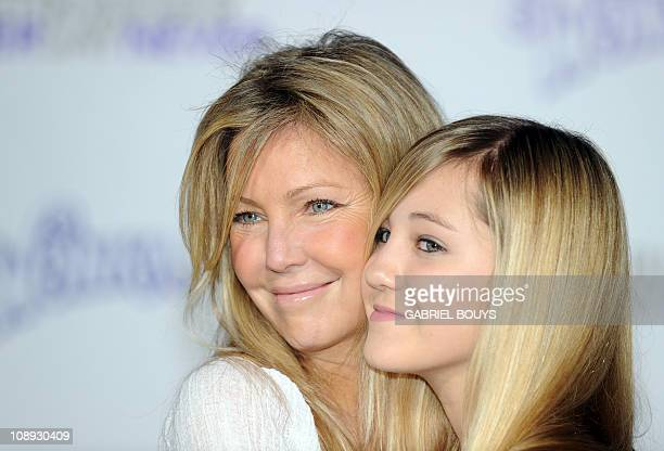 "Actress Heather Locklear and her daughter Ava Sambora arrives at the premiere of Justin Bieber Never say Never"" in Los Angeles California on February..."