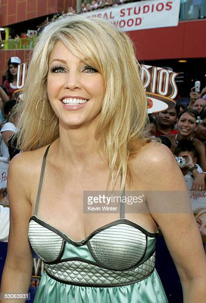 Actress Heather Locklear arrives at the premiere of The Perfect Man at Universal Studios Cinema on June 13 2005 in Hollywood California